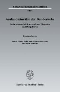 Cover Auslandseinsätze der Bundeswehr