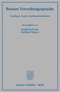 Cover Bessere Verwaltungssprache