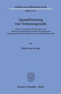 Cover Quantifizierung von Verfassungsrecht