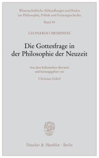 Cover Die Gottesfrage in der Philosophie der Neuzeit