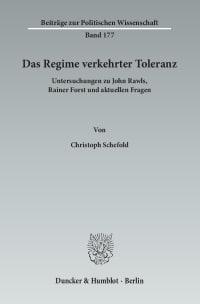 Cover Das Regime verkehrter Toleranz
