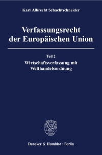 Cover Verfassungsrecht der Europäischen Union