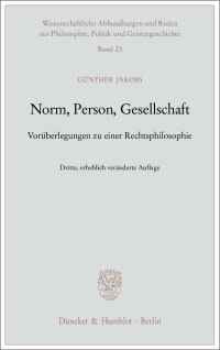 Cover Norm, Person, Gesellschaft