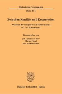 Cover Zwischen Konflikt und Kooperation