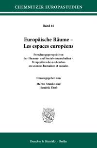 Cover Europäische Räume – Les espaces européens