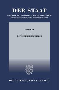 Cover Verfassungsänderungen