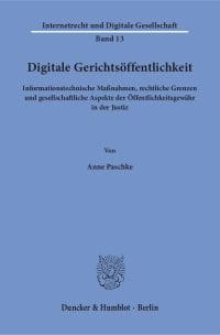Cover Digitale Gerichtsöffentlichkeit