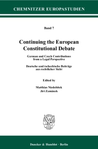 Cover Continuing the European Constitutional Debate