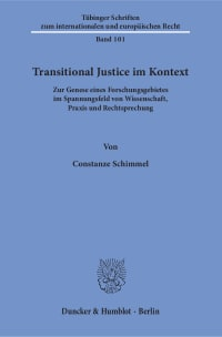 Cover Transitional Justice im Kontext