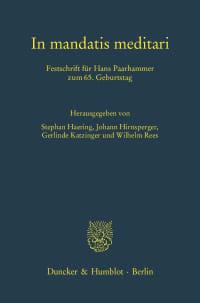 Cover In mandatis meditari