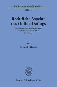 Cover Rechtliche Aspekte des Online-Datings