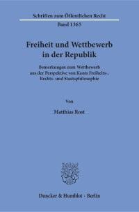 Cover Freiheit und Wettbewerb in der Republik