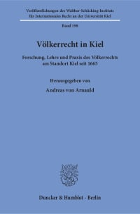 Cover Völkerrecht in Kiel