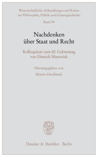 Cover Nachdenken über Staat und Recht