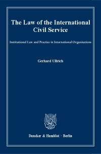 Cover The Law of the International Civil Service