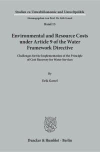 Cover Environmental and Resource Costs under Article 9 of the Water Framework Directive