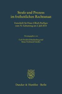 Cover Strafe und Prozess im freiheitlichen Rechtsstaat