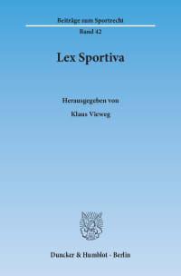 Cover Lex Sportiva
