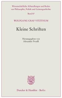 Cover Kleine Schriften