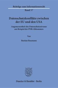 Cover Datenschutzkonflikte zwischen der EU und den USA