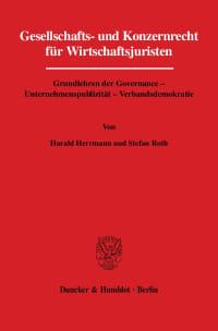 Cover Gesellschafts- und Konzernrecht für Wirtschaftsjuristen