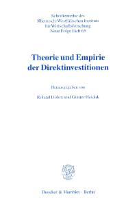 Cover Theorie und Empirie der Direktinvestitionen