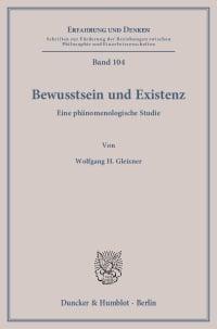 Cover Bewusstsein und Existenz