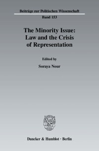 Cover The Minority Issue: Law and the Crisis of Representation