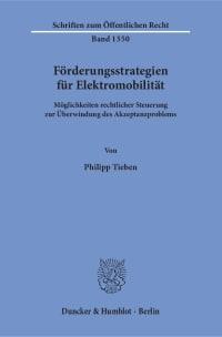 Cover Förderungsstrategien für Elektromobilität