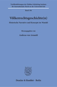 Cover Völkerrechtsgeschichte(n)