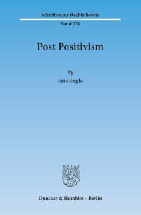 Cover Post Positivism