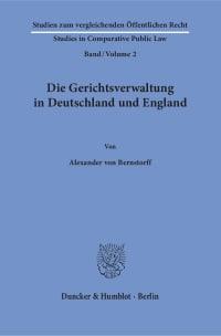 Cover Die Gerichtsverwaltung in Deutschland und England