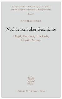 Cover Nachdenken über Geschichte