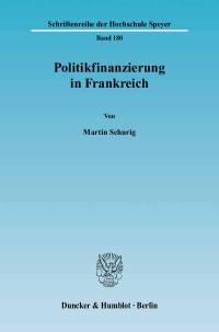 Cover Politikfinanzierung in Frankreich