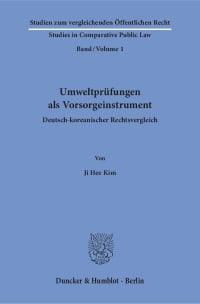 Cover Umweltprüfungen als Vorsorgeinstrument