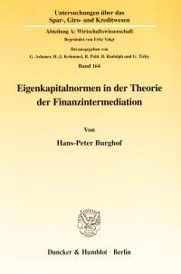 Cover Eigenkapitalnormen in der Theorie der Finanzintermediation