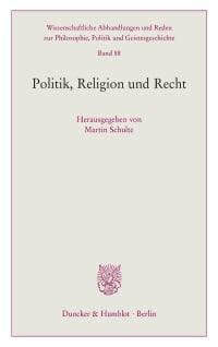 Cover Politik, Religion und Recht