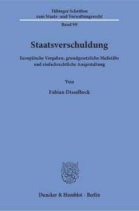 Cover Staatsverschuldung