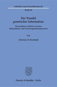 Cover Der Wandel genetischer Information