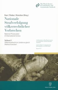Cover Völkerstrafrecht im Ländervergleich
