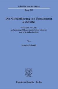 Cover Die Nichtabführung von Umsatzsteuer als Straftat