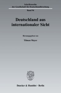 Cover Deutschland aus internationaler Sicht