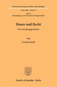 Cover Hanse und Recht