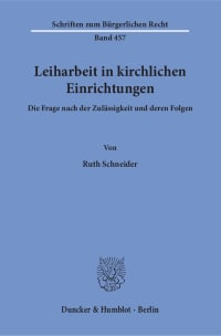 Cover Leiharbeit in kirchlichen Einrichtungen