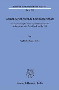 Cover Grenzüberschreitende Leihmutterschaft