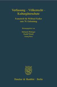 Cover Verfassung - Völkerrecht - Kulturgüterschutz