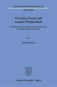 Cover Zwischen Norm und sozialer Wirklichkeit