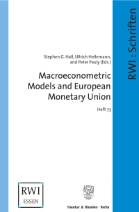 Cover Macroeconometric Models and European Monetary Union