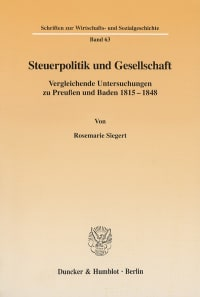 Cover Steuerpolitik und Gesellschaft