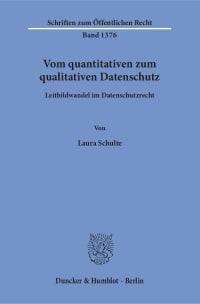 Cover Vom quantitativen zum qualitativen Datenschutz